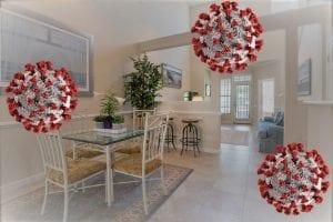 coronaviris floating in your home