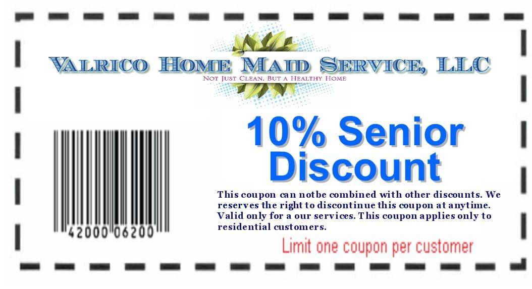 Senior discount coupn