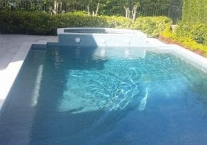 pool cleaned after our pool cleaning service