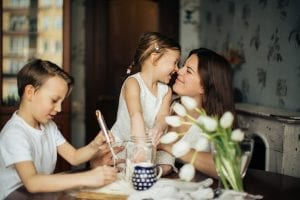 family in a clean and healthy home