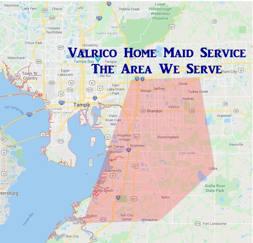 map of valrico home maid service area
