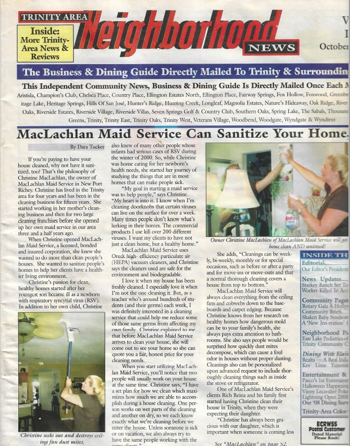 article about our maid service