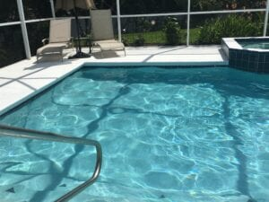 sparkling clean pool after our pool service